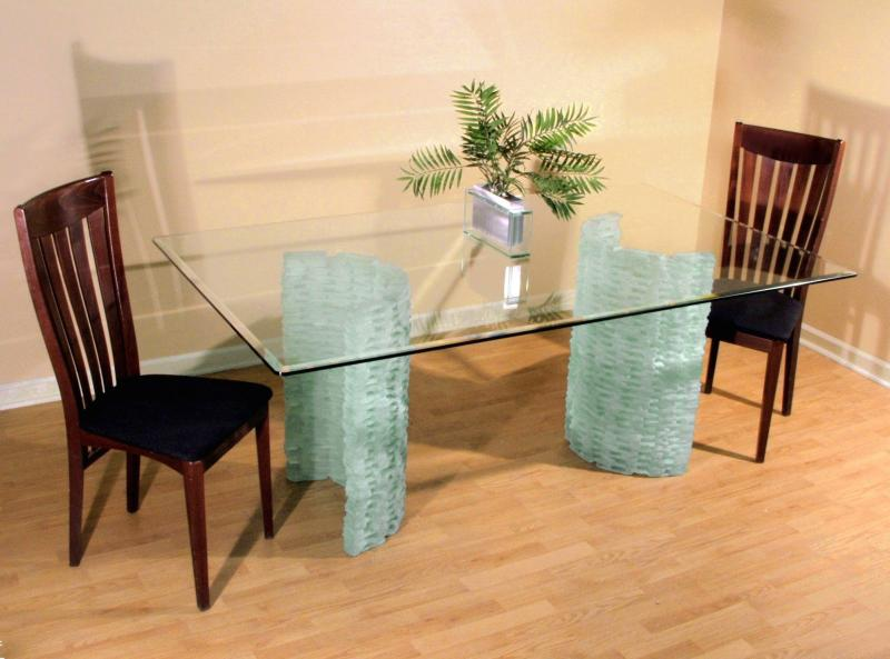beveled edge glass table top
